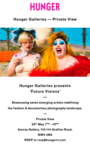 Hunger Galleries Private View Invite