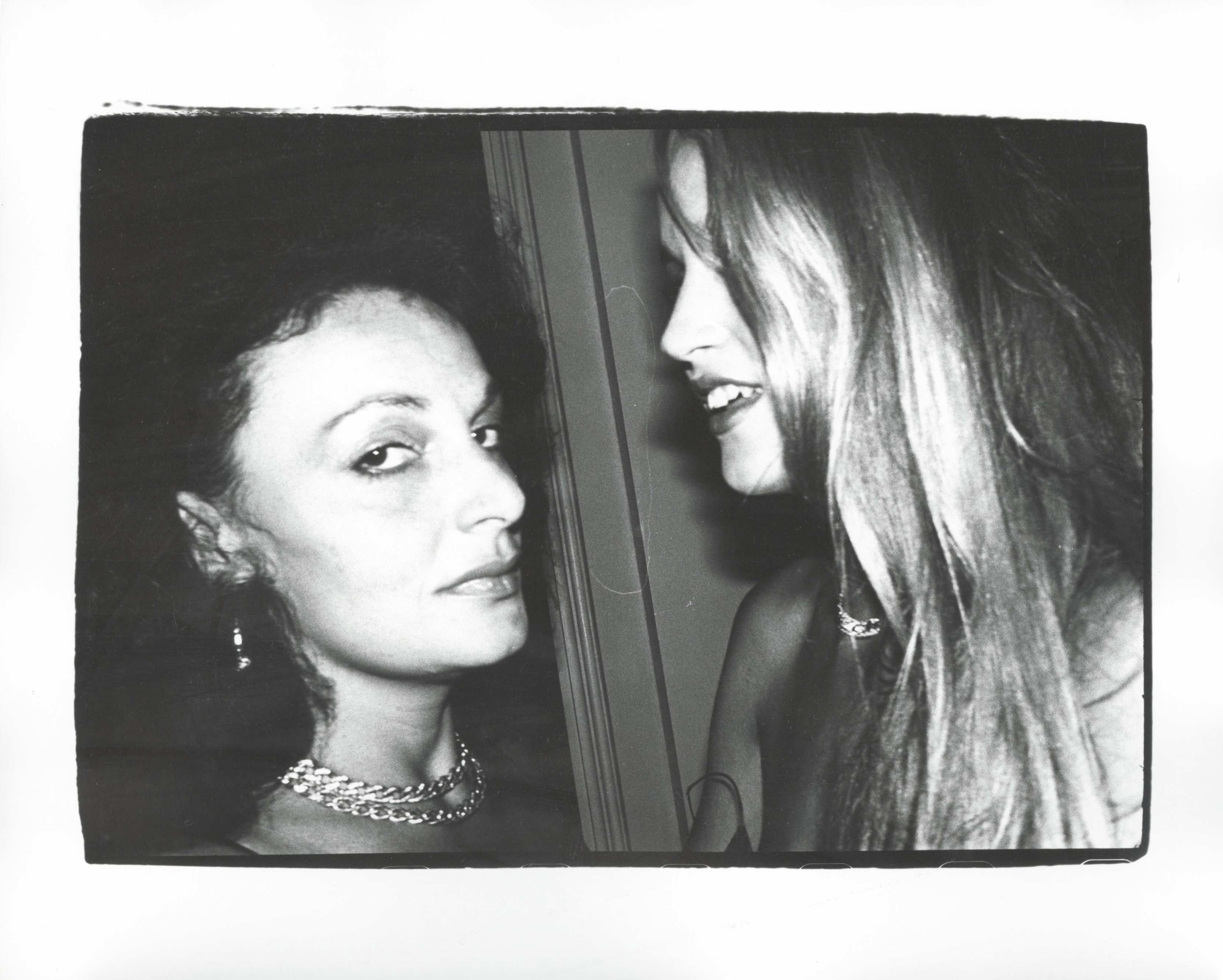 ANDY WARHOL DIANE VON FURSTENBERG AND JERRY HALL 1982
