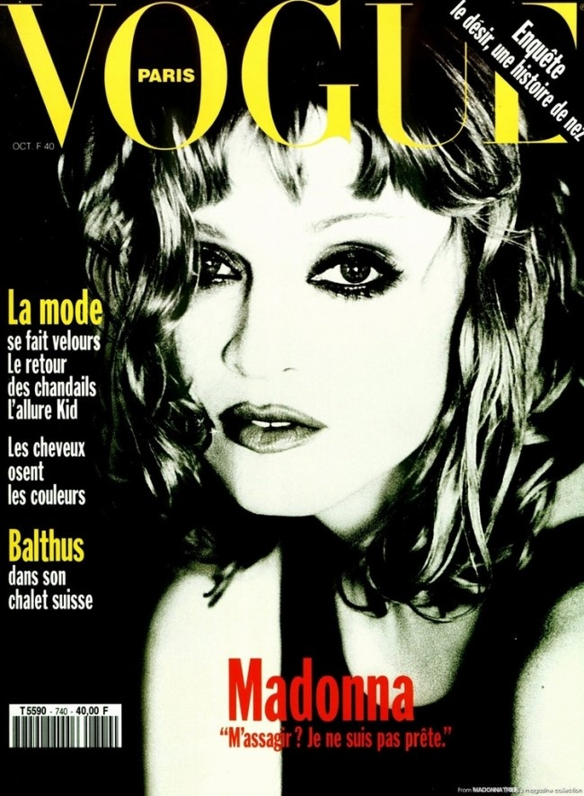 ELLEN VON UNWERTH MADONNA VOGUE PARIS COVER OCTOBER 1993