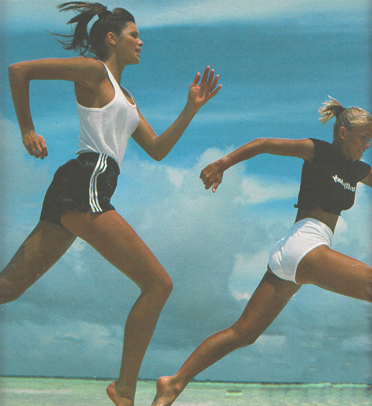GILLES BENSIMON ELLE MACPHERSON AND MARIE CHRISTINE DEBOURSE ELLE FRANCE JULY 1984