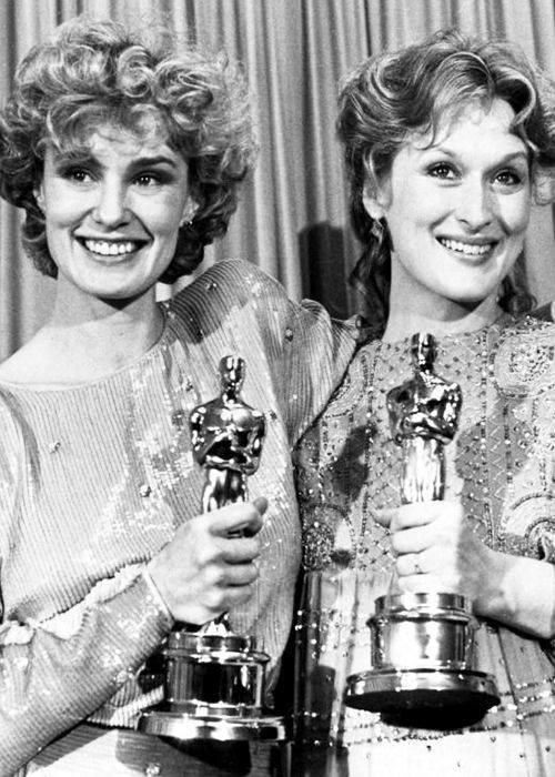 JESSICA LANGE AND MERYL STREEP 55TH ACADEMY AWARDS 1983