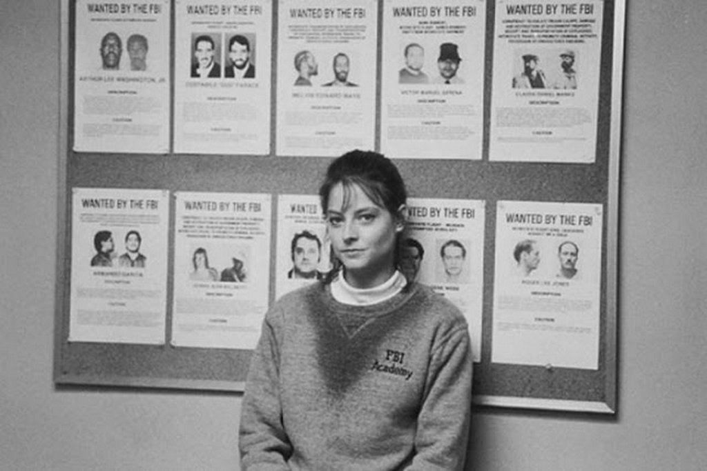 Jodie Foster on the set of Silence of the Lambs directed by joNathan demme 1991