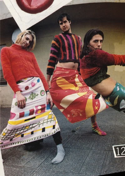 NIRVANA IN DRIES VAN NOTEN MADEMOISELLE MAGAZINE NOVEMBER 1993
