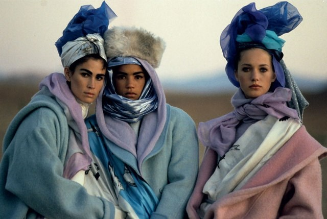 PETER LINDBERGH KENZO AD CAMPAIGN FALL WINTER 1985 1986