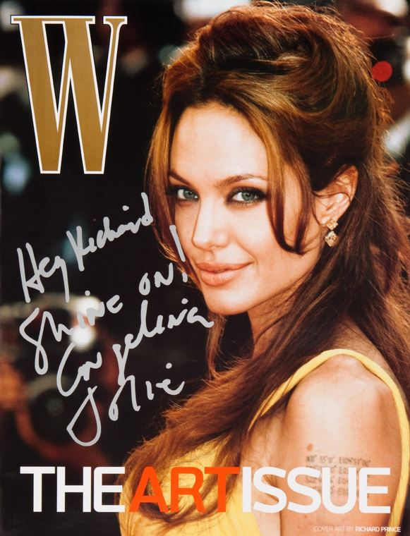 RICHARD PRINCE ANGELINA JOLIE W MAGAZINE NOVEMBER 2007