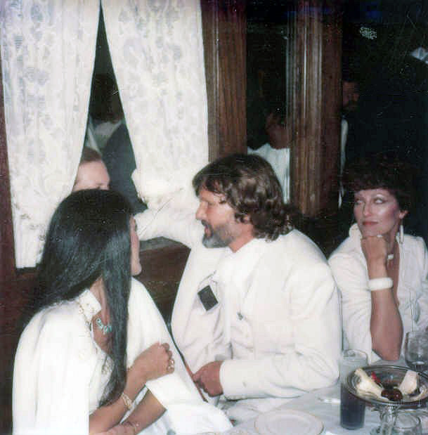 Rita Coolidge and Kris Kristofferson after the premiere of the movie A STAR IS BORN-directed by frank pierson1976
