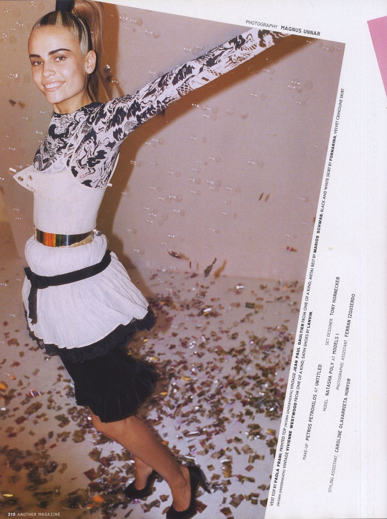 natasha poly photography magnus unnar styling tal brener another magazine ss 2006 1