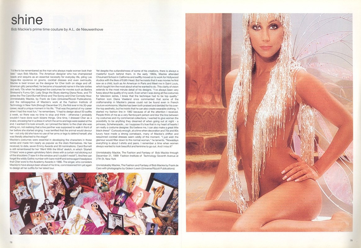 cher photography gideon lewin bob mackie dutch 25 january february 2000