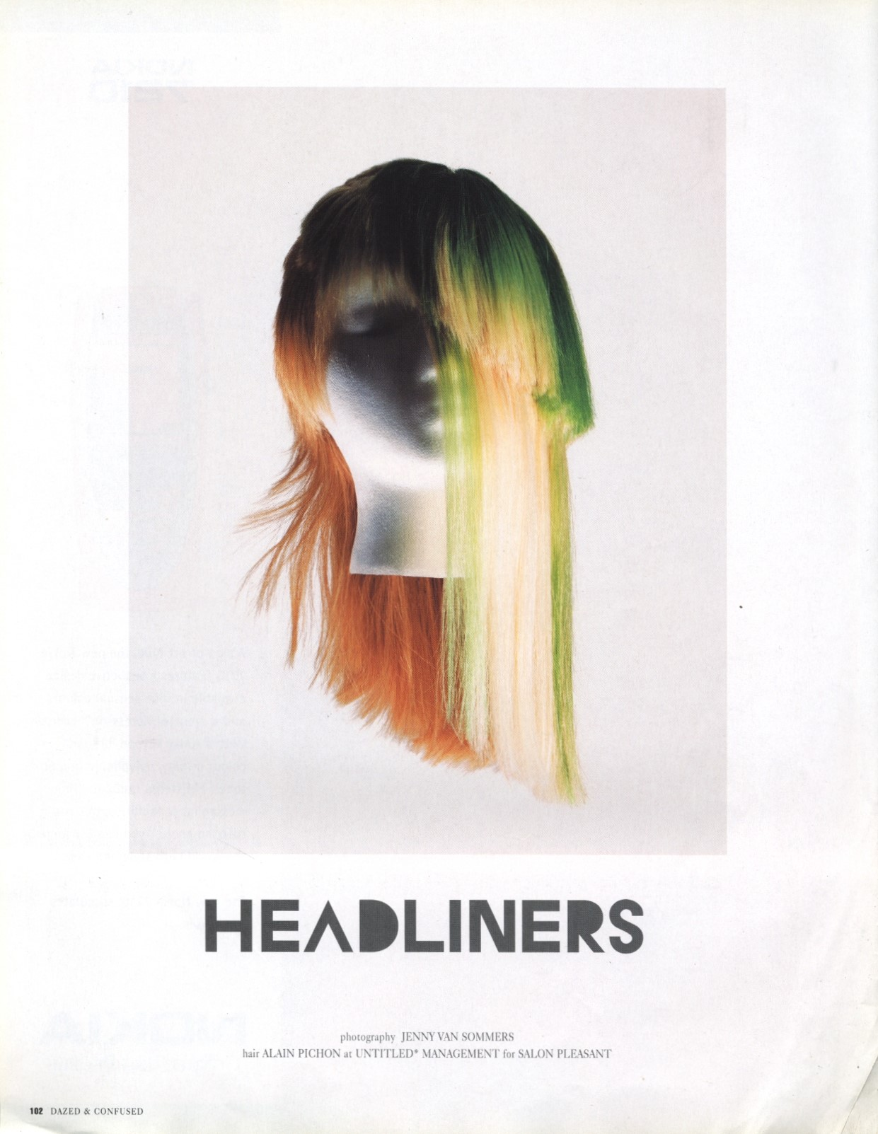 headliners photography jenny van sommers hair alain pichon dazed and confused japan november 2002 1