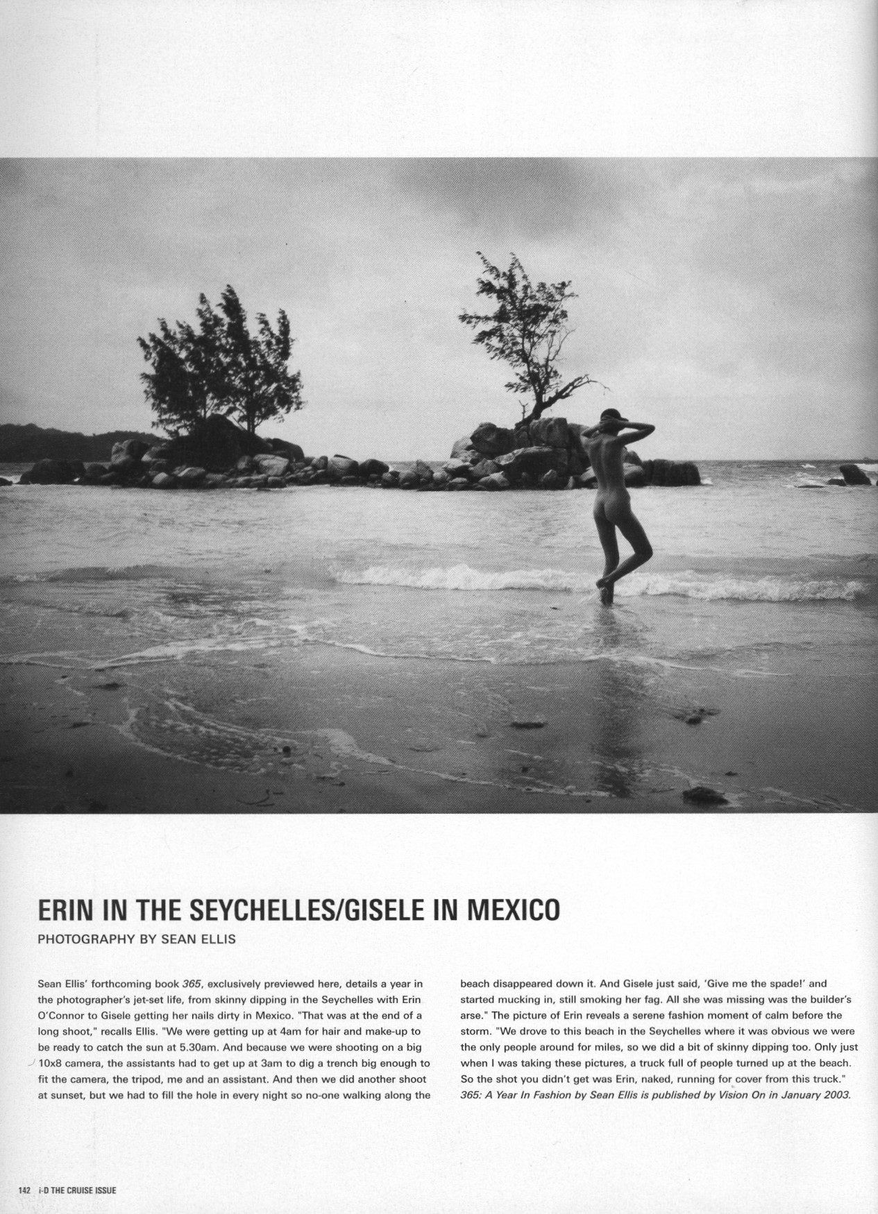erin in the seychelles gisele in mexico photography sean ellis id magazine n.226 december 2002