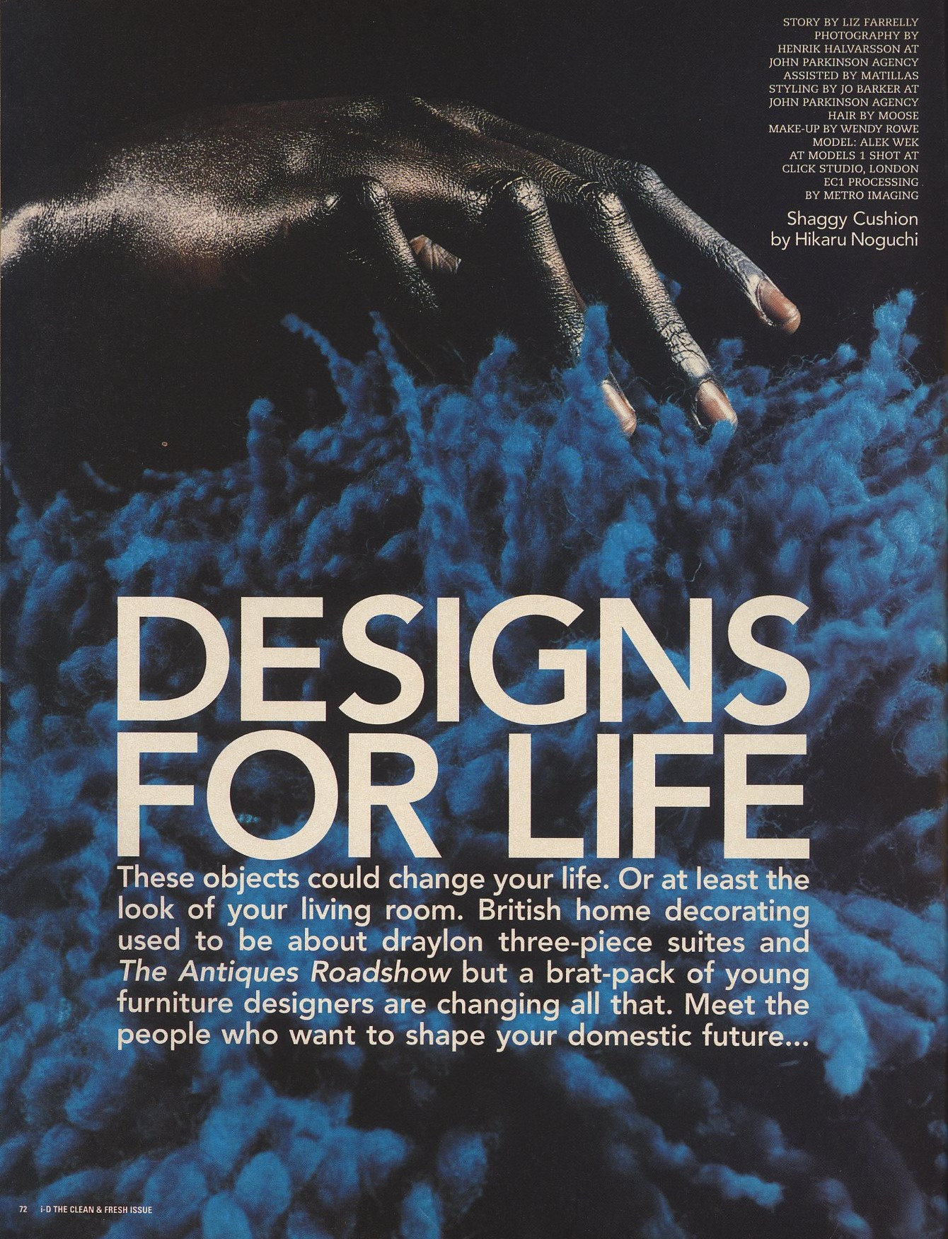 designs for life alek wek photography henrik halvarsson styling jo barker id the clean and fresh issue no 166 july 1997 1