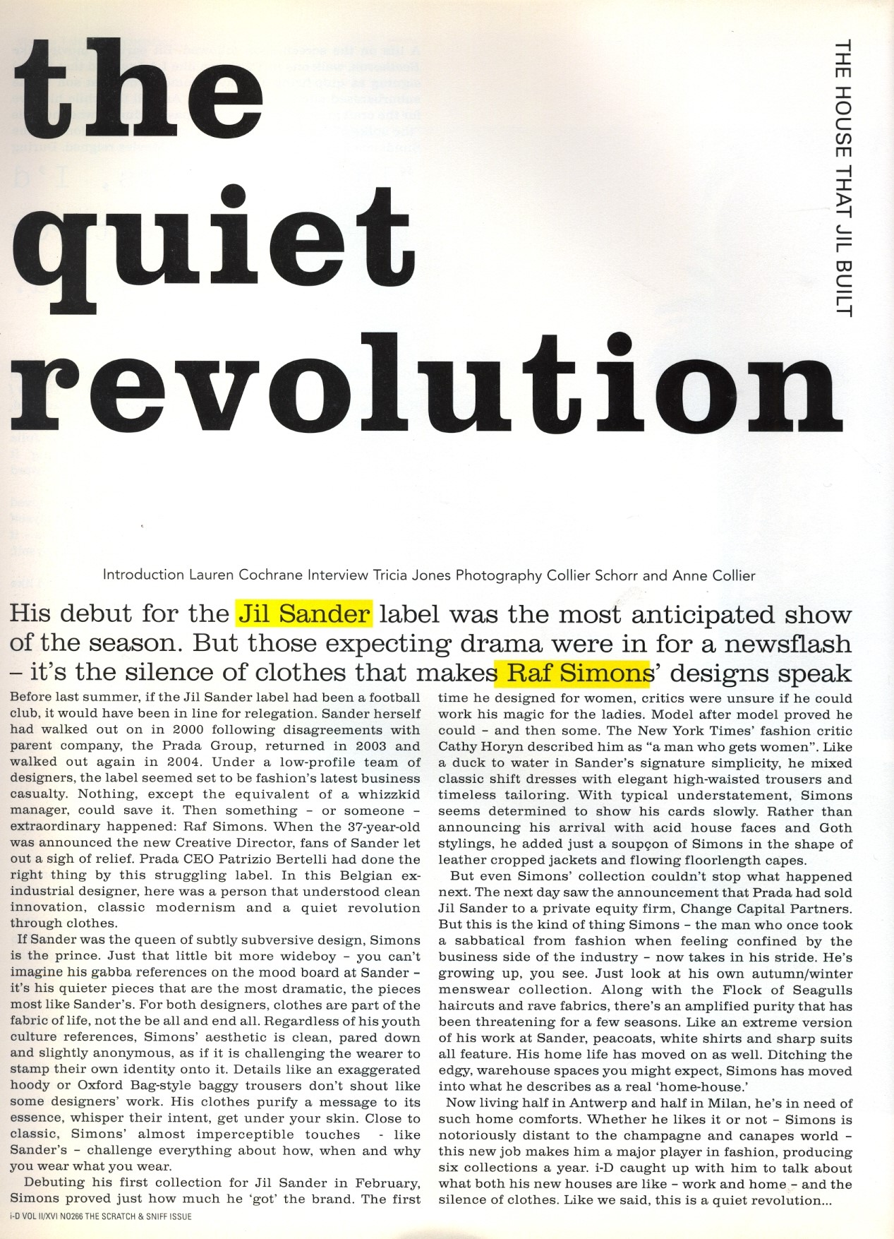 the quiet revolution photography collier schorr and anne collier id magazine N266 may 2006 1