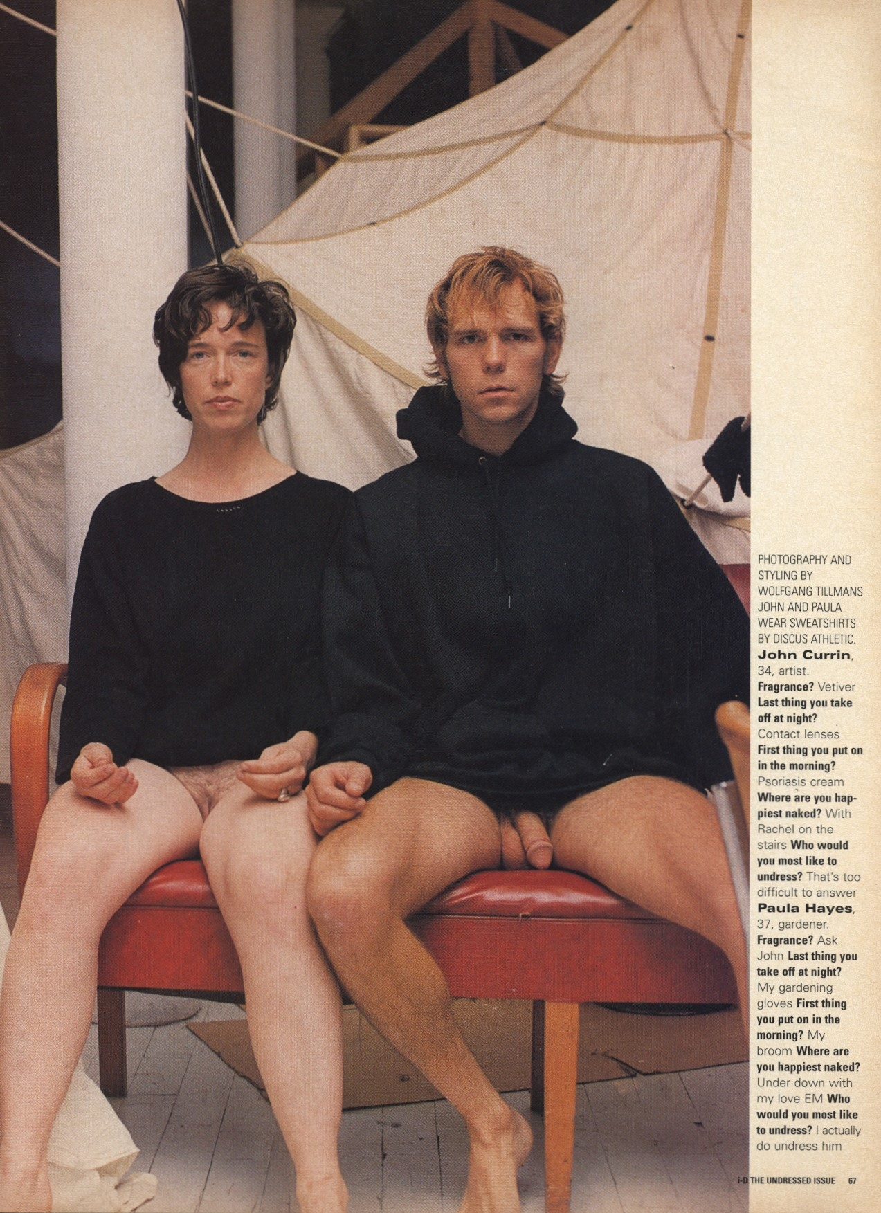 john currin and paula hayes photography and styling by wolfgang tillmans i d no 159 december 1996