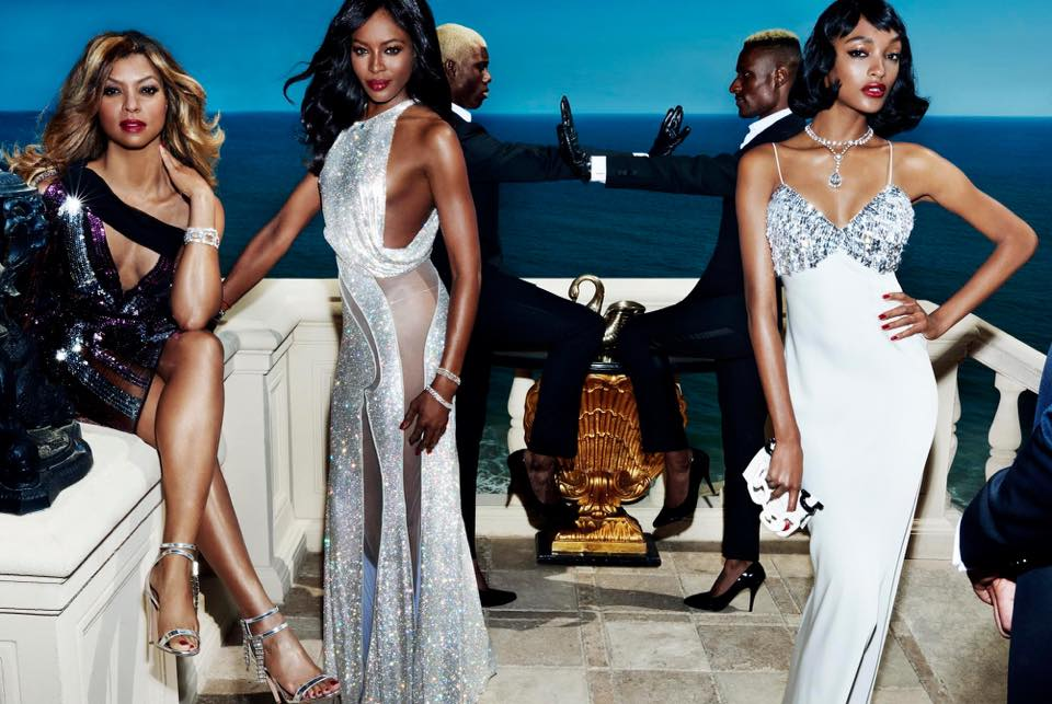 mario testino taraji p. henson naomi campbell and jourdan dunn vogue us september 2015