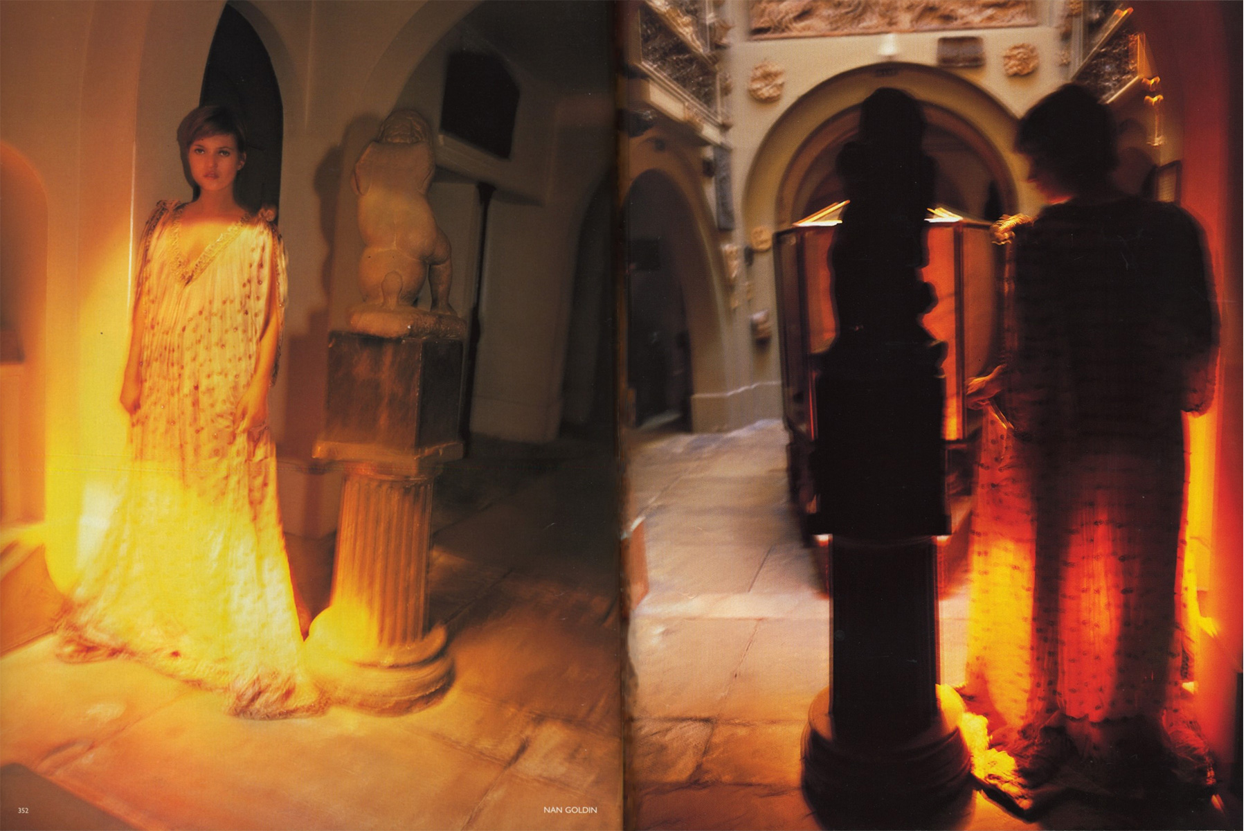 kate moss photography nan goldin fashion editoe stella mccartney vogue october 2001 5