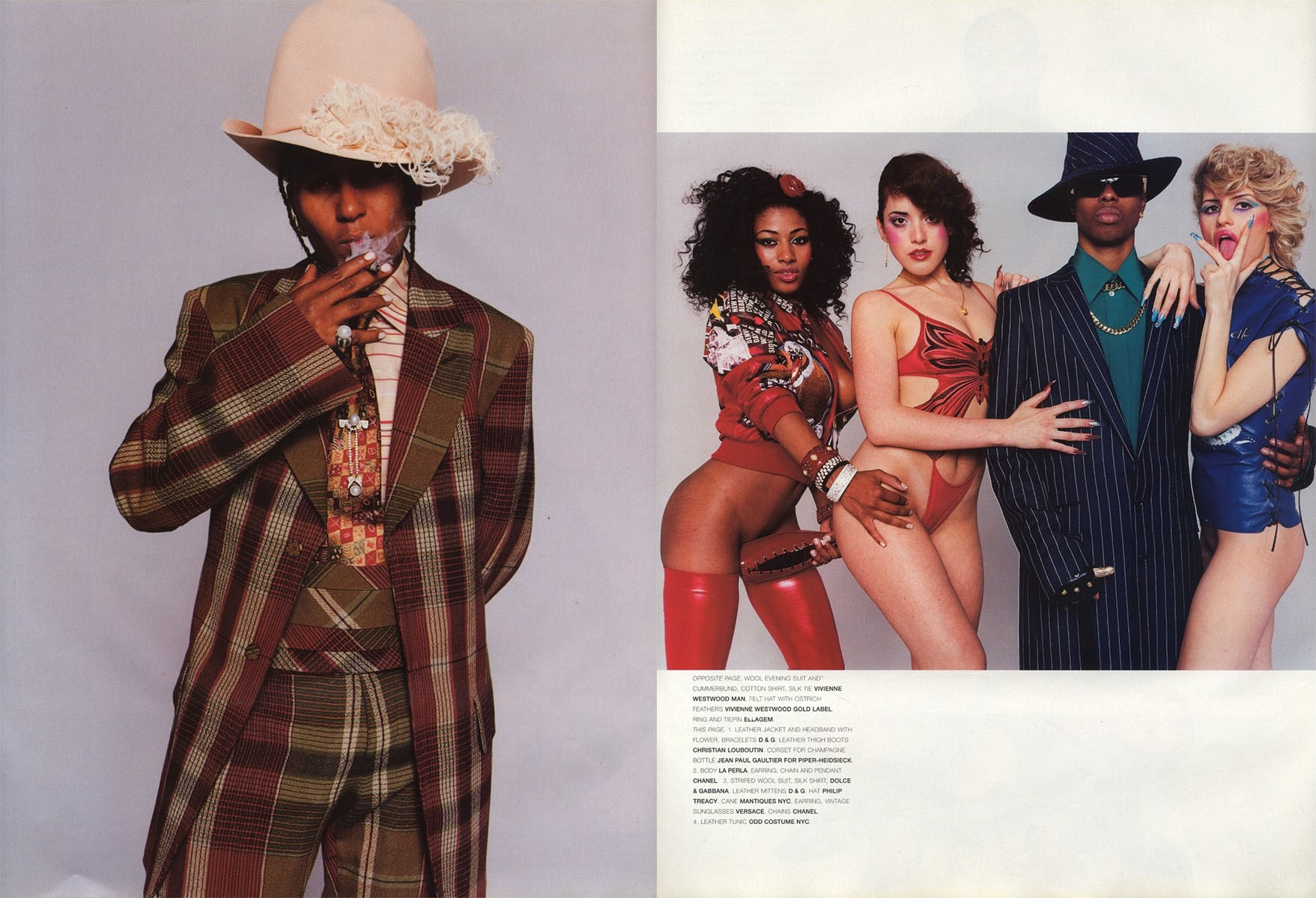 gang bang photography terry richardson stylist jason farrer vogue hommes international fw 2001 02 3