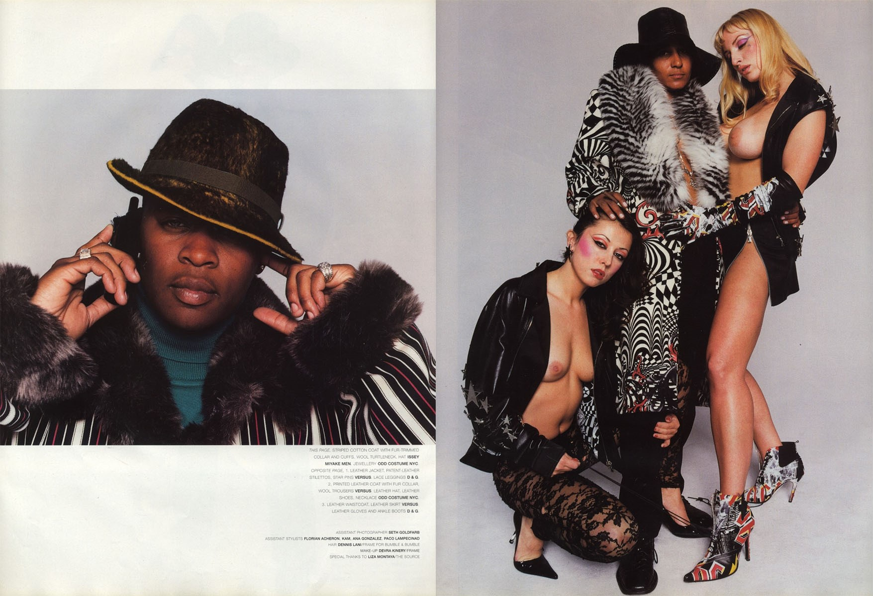 gang bang photography terry richardson stylist jason farrer vogue hommes international fw 2001 02 6