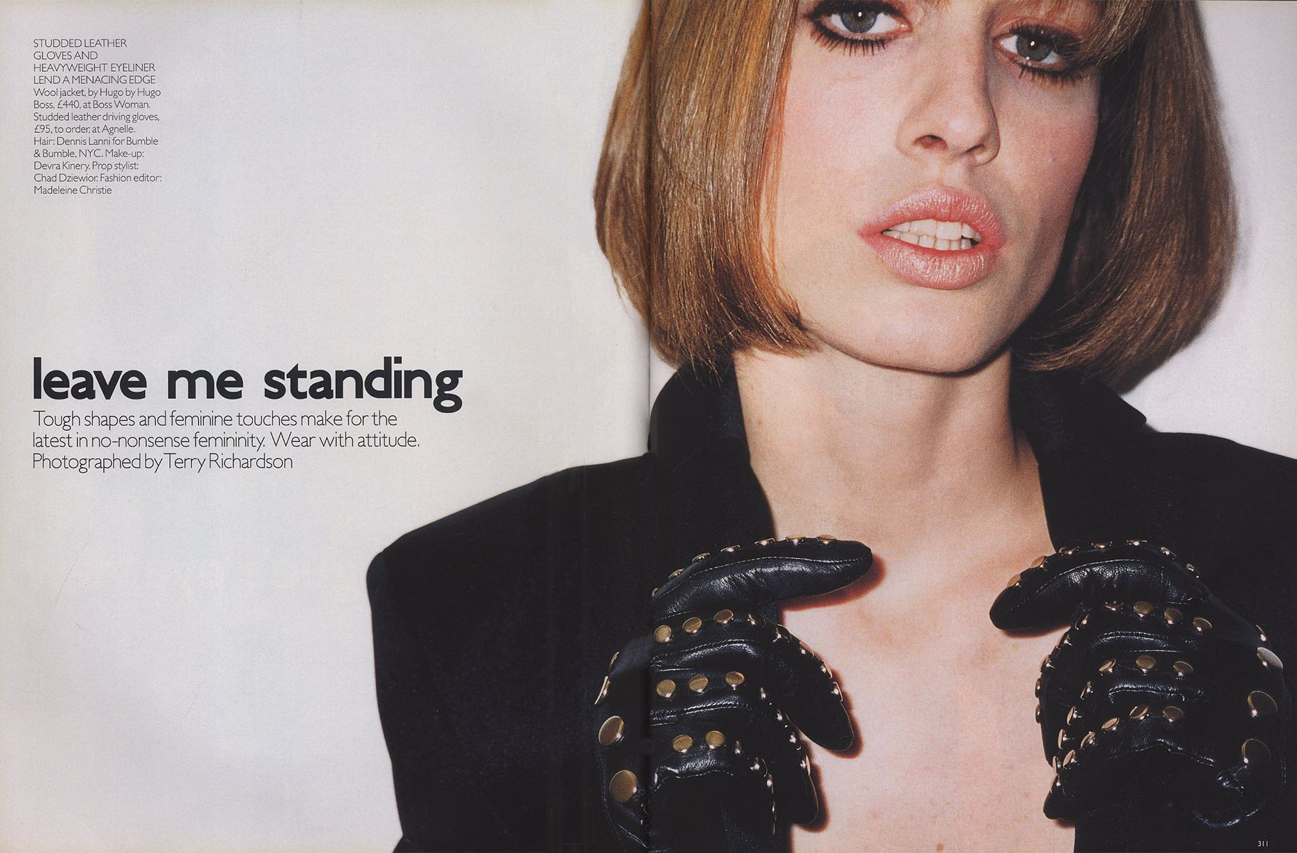 leave me standing natasa vojnovic photography terry richardson vogue uk october 2001 1