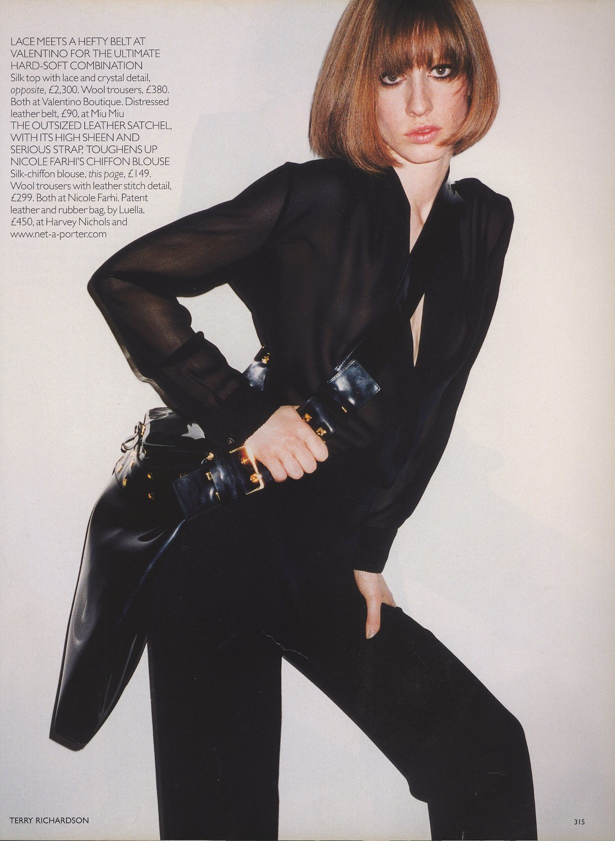 leave me standing natasa vojnovic photography terry richardson vogue uk october 2001 3