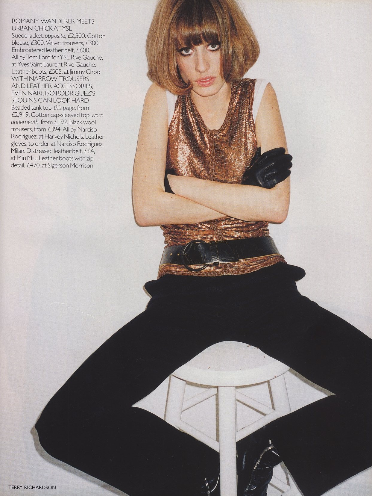 leave me standing natasa vojnovic photography terry richardson vogue uk october 2001 5