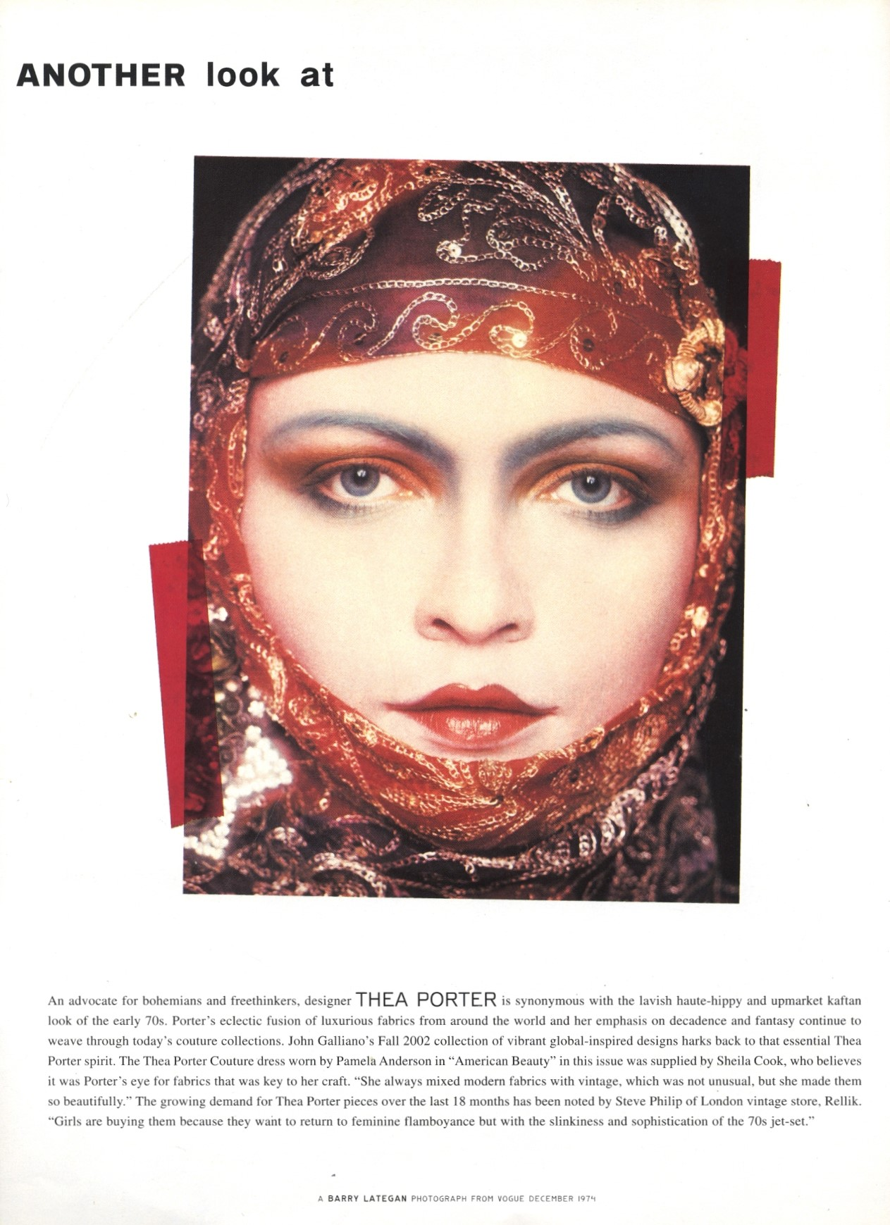 thea porter photography barry lategan vogue december 1974 another magazine issue 3 autumn winter 2002