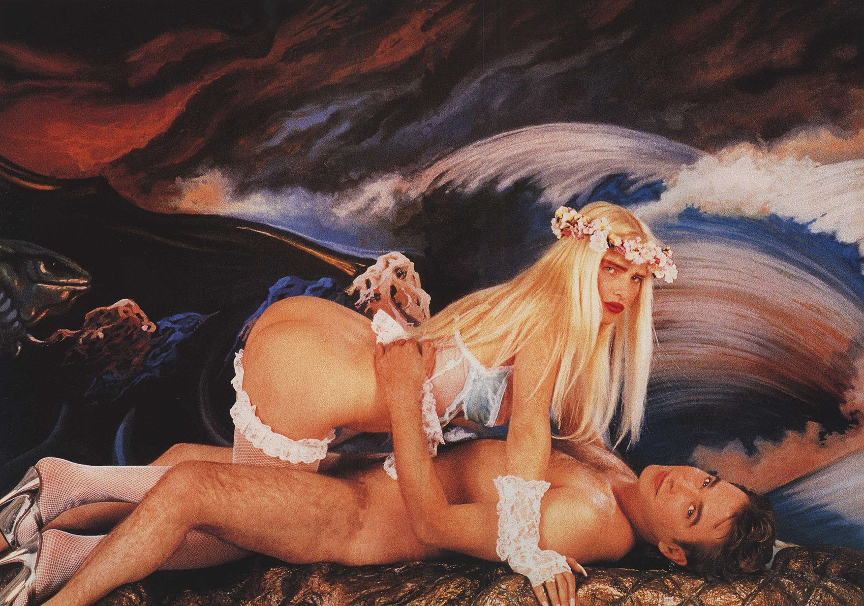 ilona with ass up by jeff koons 1990