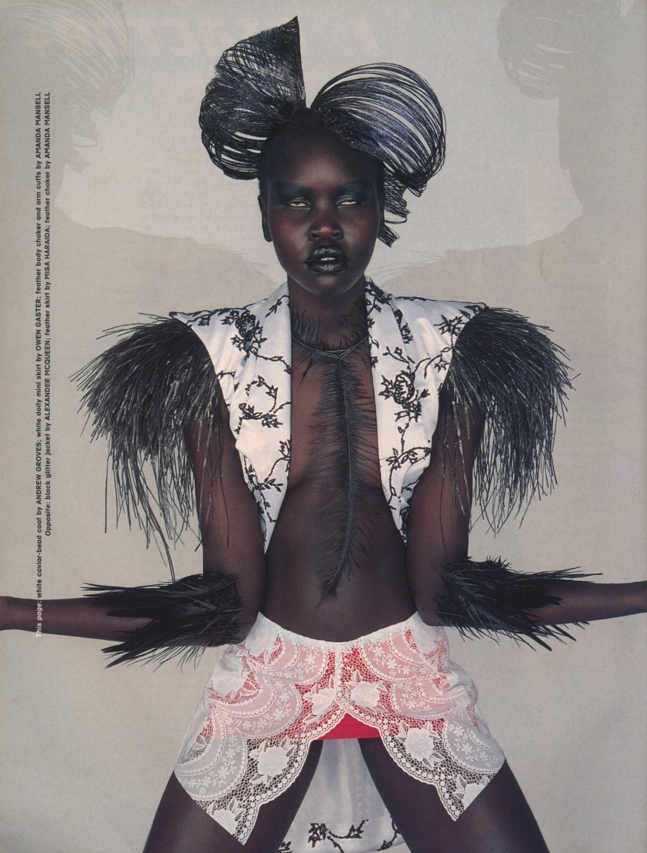 alek wek photography peter robathan styling seta niland the face no 13 february 1998 1