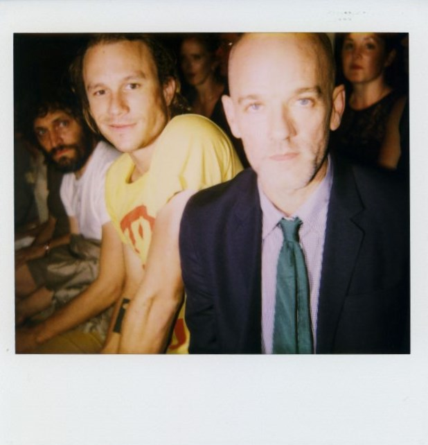 vincentgallo heathledger michaelstipe MARC JACOBS FASHION SHOW SPRING 2008 NEW YORK CITY SEPTEMBER 2007