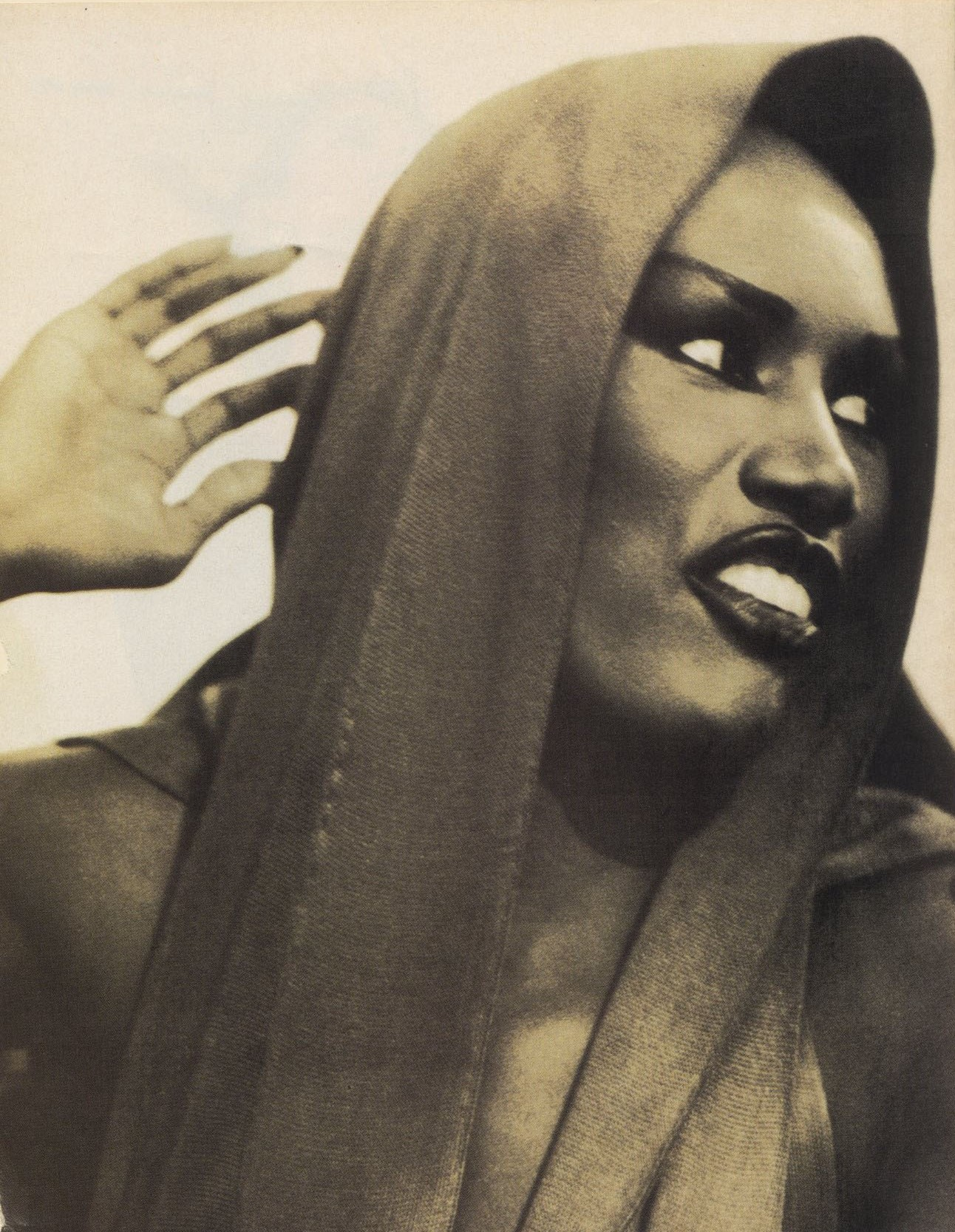 grace jones photography arthur elgort vogue italia december 1988