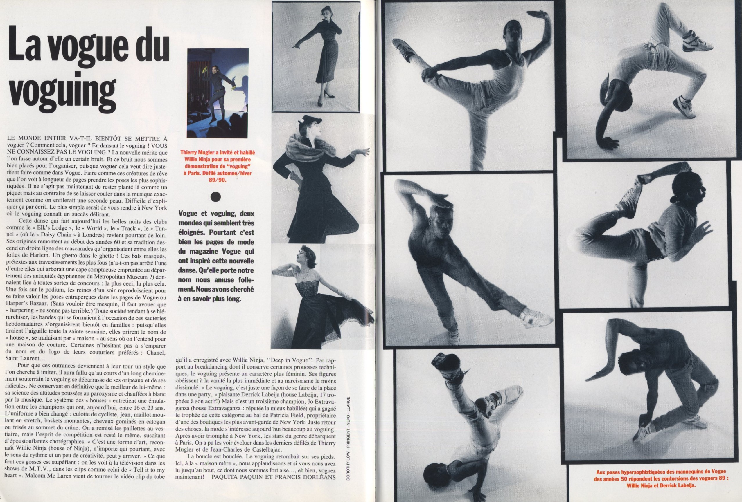 la vogue du voguing vogue paris n6996 may 1989