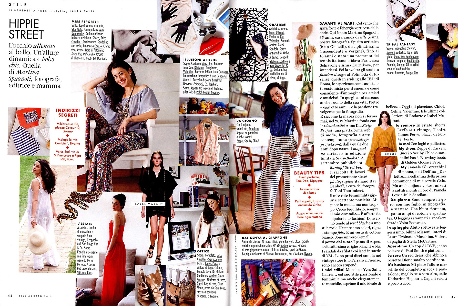 MARTINA SPAGNOLI | CO-FOUNDER OF STRIP-PROJECT ON ELLE ITALY | AUGUST 2015