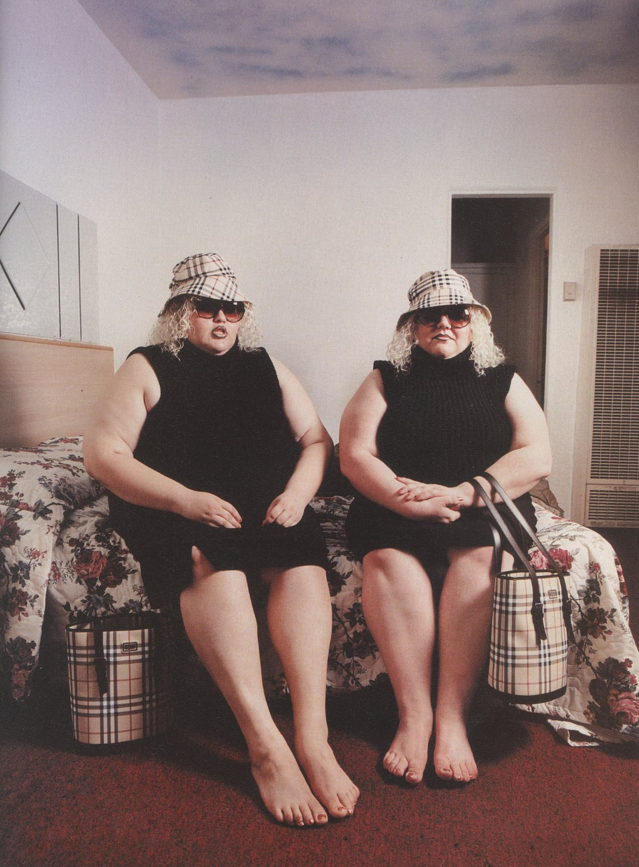 CHEREE AND BRIE AKA THE BURBERRY TWINS PHOTOGRAPHY DAVID LACHAPELLE i-D NO.196 APRIL 2000
