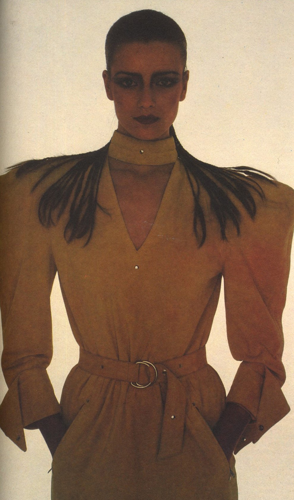 CLAUDE MONTANA | PHOTOGRAPHY OLIVIERO TOSCANI |  10 YEARS OF FASHION 1980-1990 | SUPPLEMENT | DONNA | APRIL 1990
