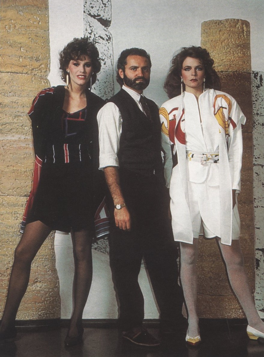 GIANNI VERSACE AND MODELS | 80s | PHOTOGRAPHY B. HOLEFLEISCH