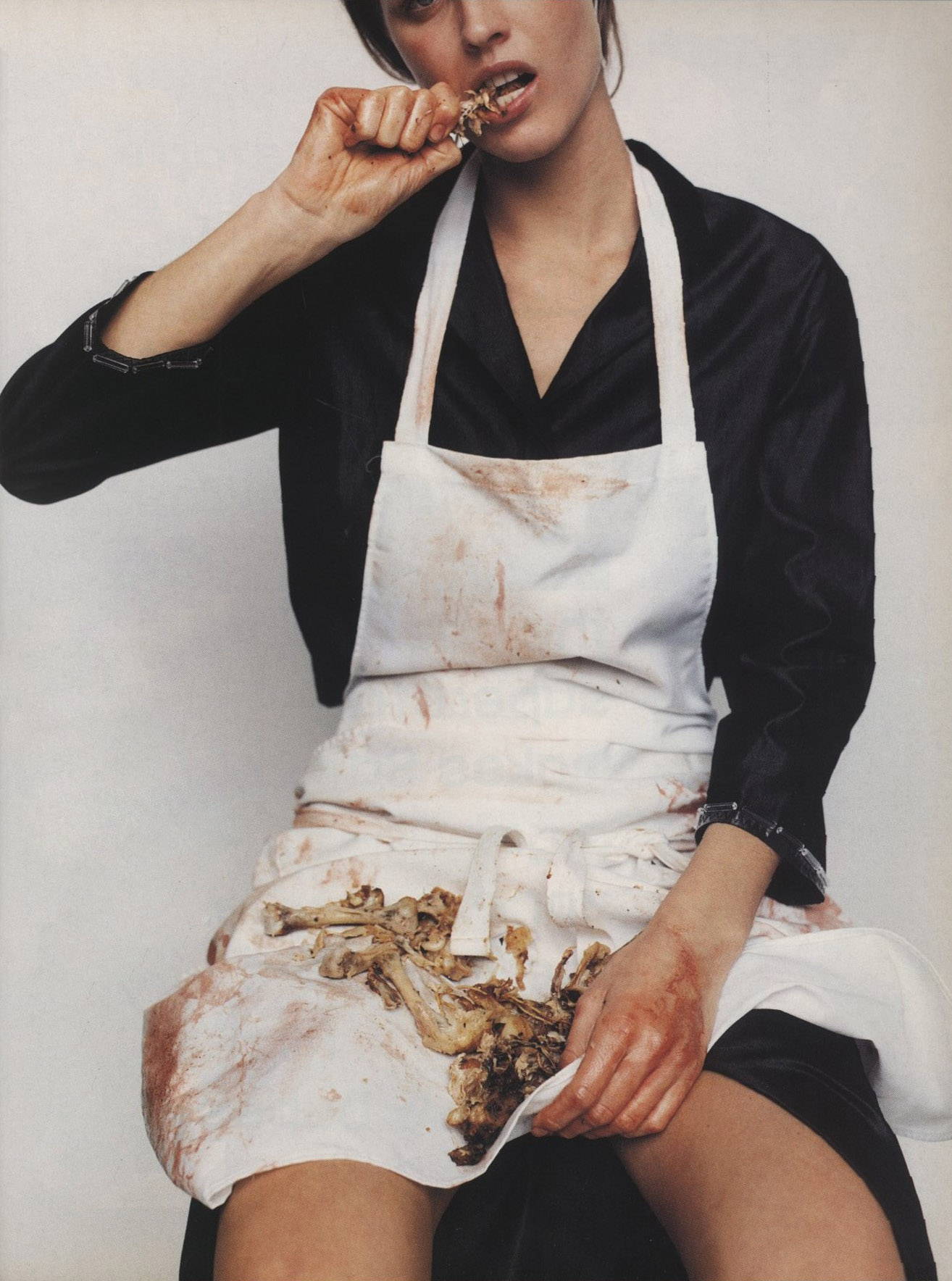 THE BUTCHER | EVA HERZIGOVA | PHOTOGRAPHY MARIO TESTINO